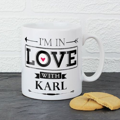 Personalised In Love With Mug
